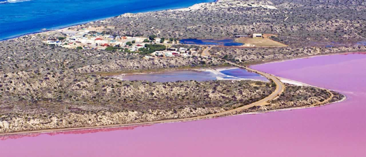 Pink Lakes Gorges Air Tour